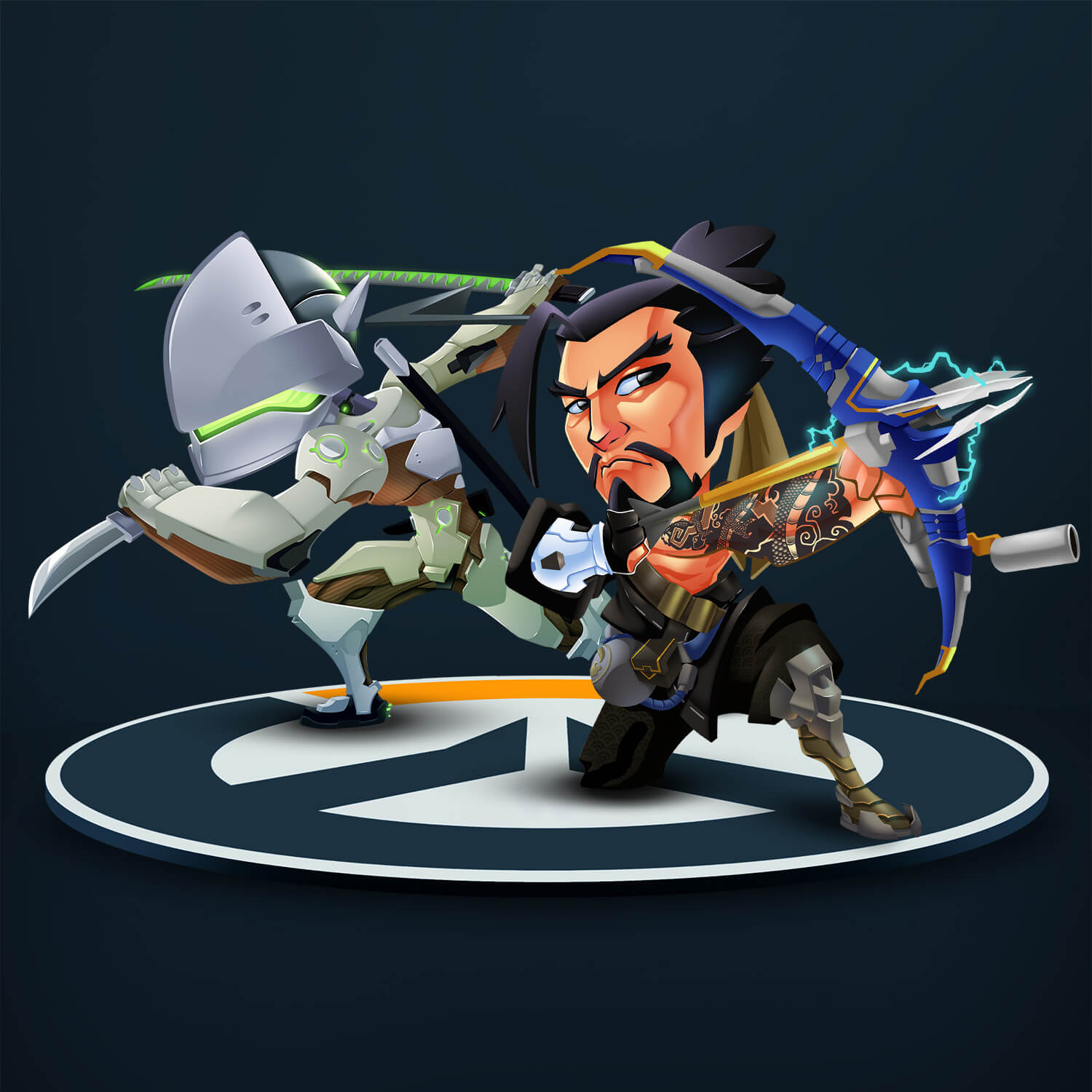 Genji and Hanzo Illustrations