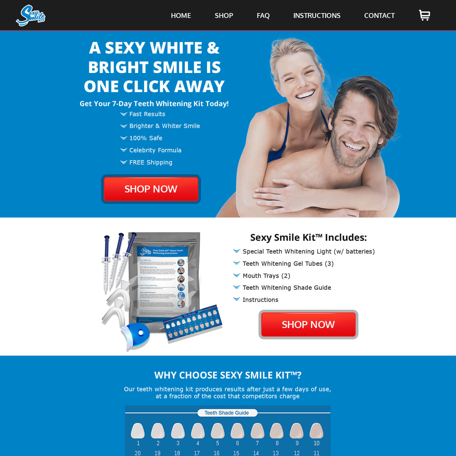 Sexy Smile Kit Web Design
