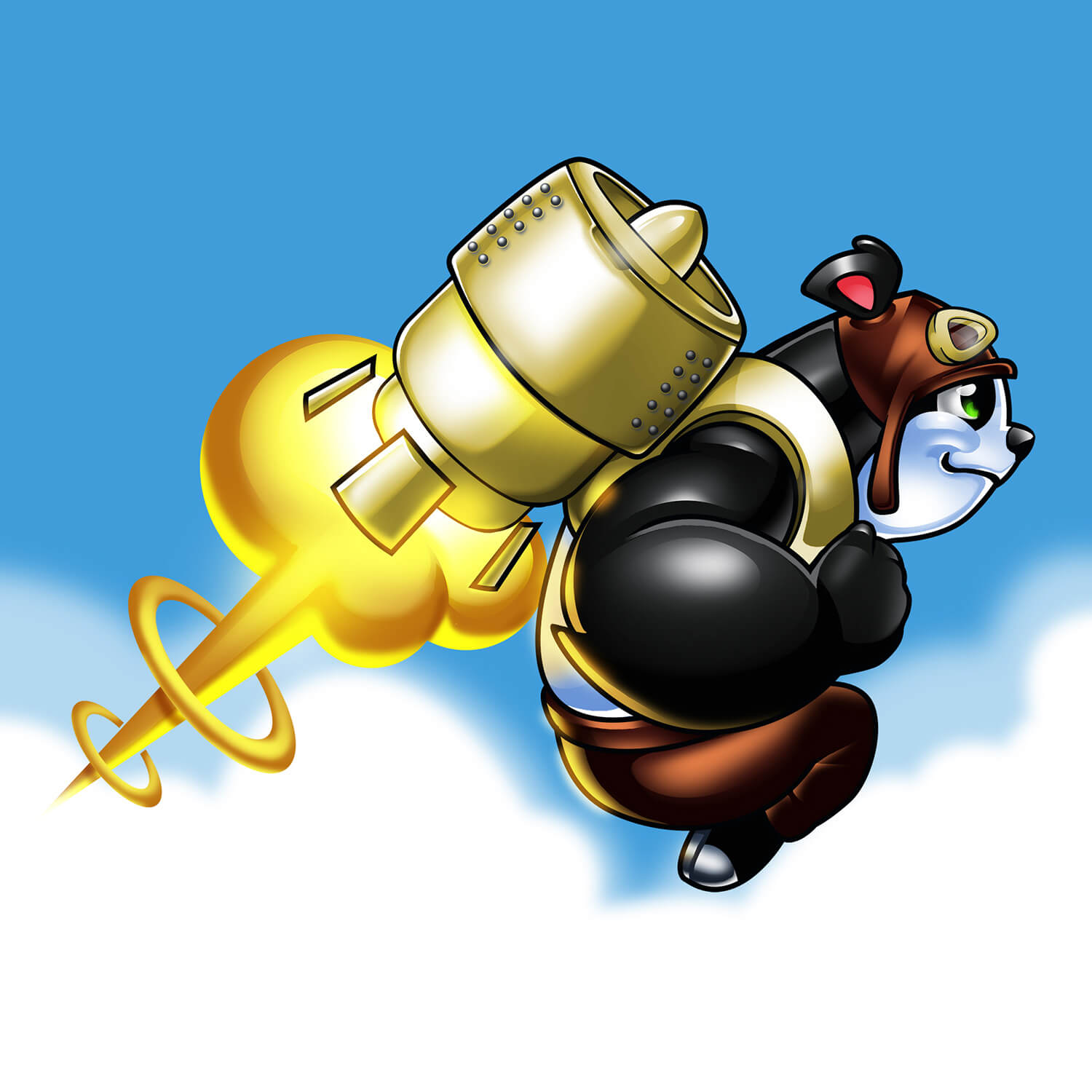 Rocket Panda Game Art