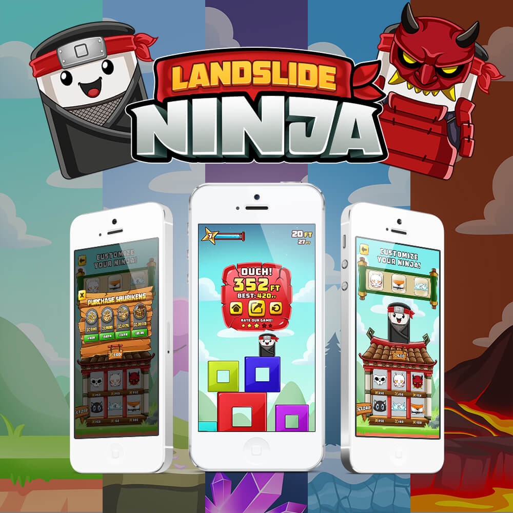 Landslide Ninja Game Art