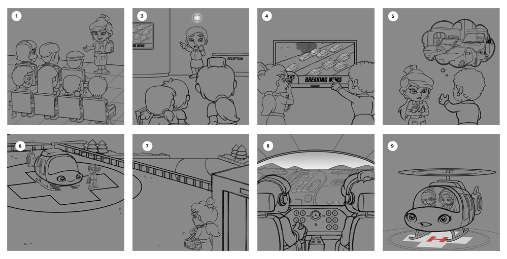 Childrens Book Illustration Storyboard 2
